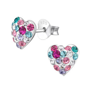 Heart with Mixed Colour Crystals