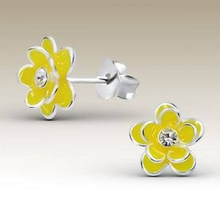Flower Double Petal Yellow with Crystal Centre