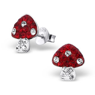 Mushroom Red with Crystals