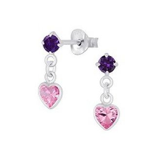 Heart -  rose drop crystal