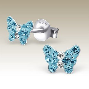 Butterfly Petite Crystal Blue
