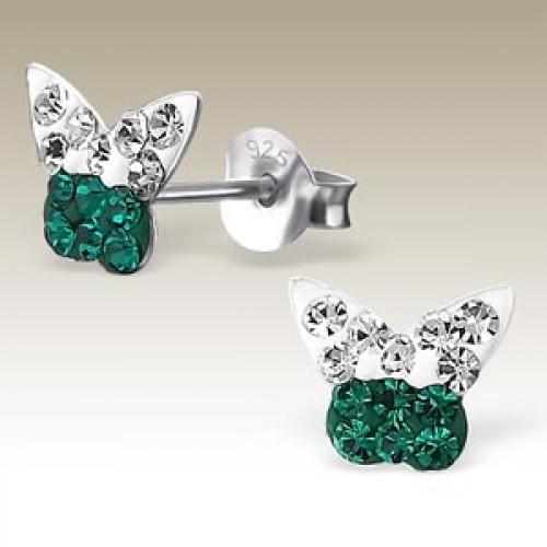 Butterfly Crystal Green and Clear