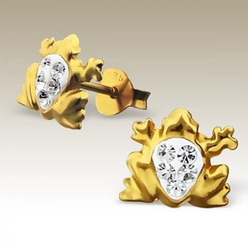 Frog Gold with Crystals