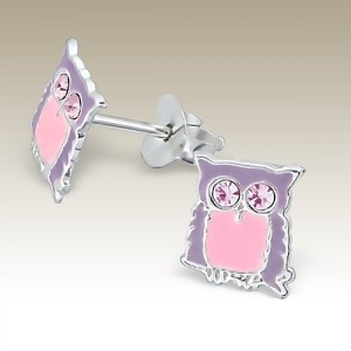 Owl Pink with Crystal Eyes