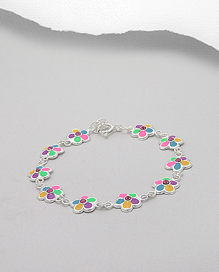 Flower - Mult Coloured Bracelet