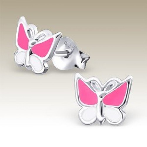 Butterfly Pink on White