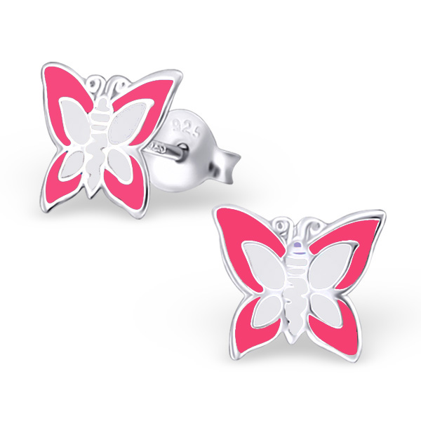 Butterfly Pink and and white