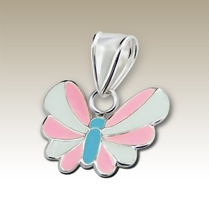 Butterfly Pink and White Curved Wings