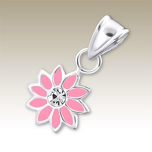 Flower Pink with Crystal Centre
