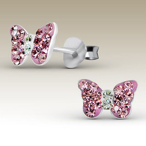 Butterfly Pink with Clear Crystal Centre