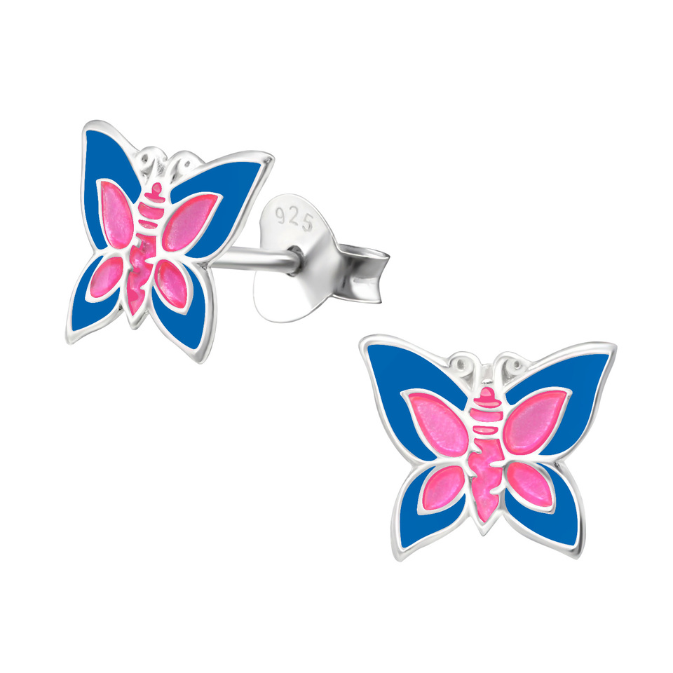 Butterfly Blue and Pink