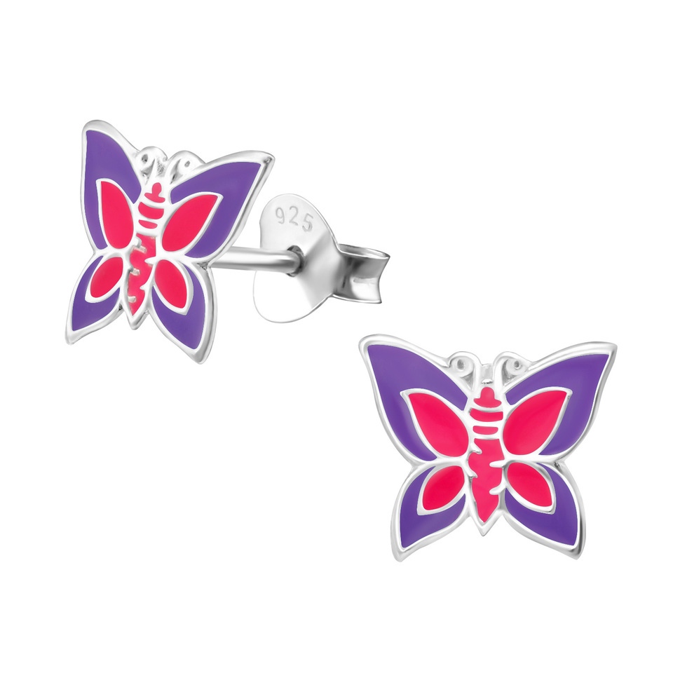 Butterfly - Pink and Purple Crystal
