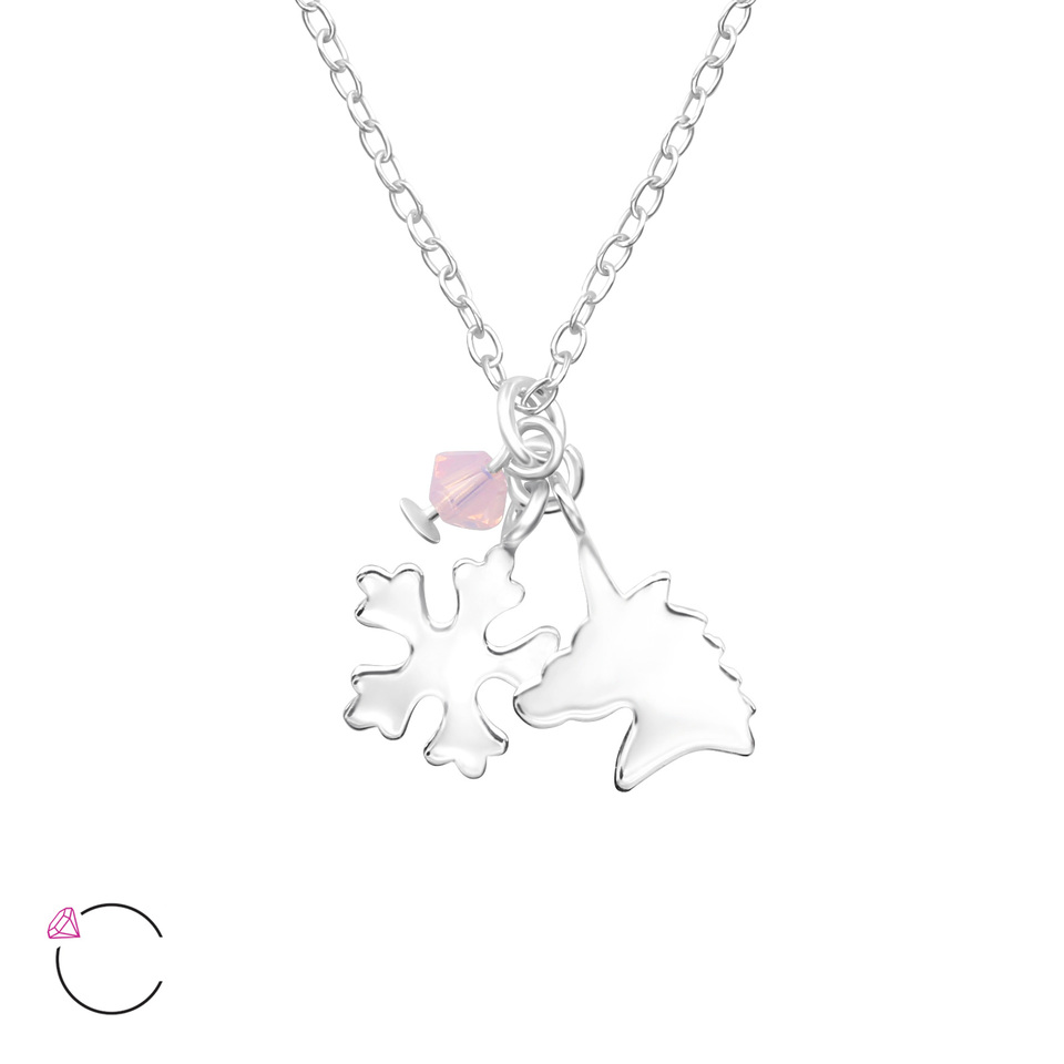 Unicorn and Snowflake Necklace
