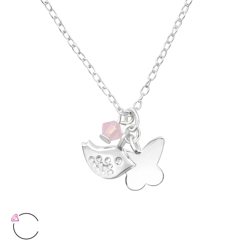 Butterfly and Bird Necklace