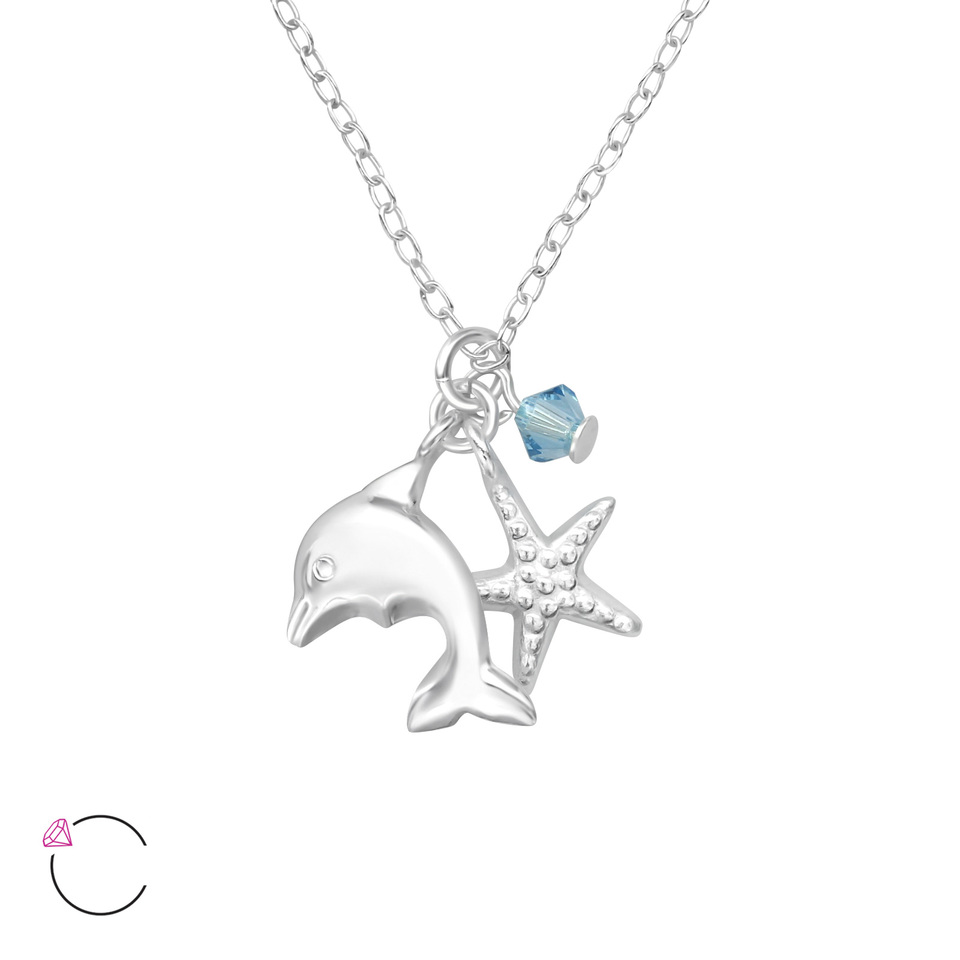 Dolphin and Starfish Necklace Set