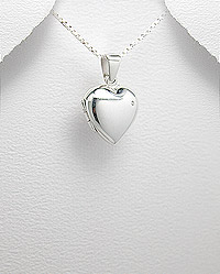 Locket Sterling Silver with CZ